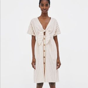 Zara knotted striped dress